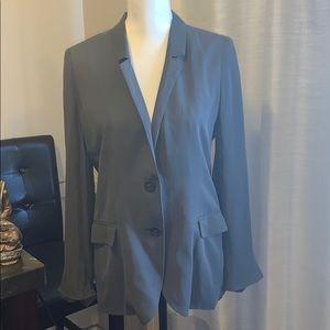 J. Crew 100% Silk Blazer Gray